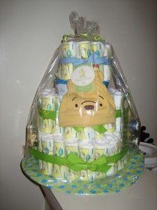 How to Make a Diaper Cake | spotofteadesigns.com