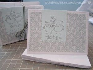 owl thank you card gift all bundled up