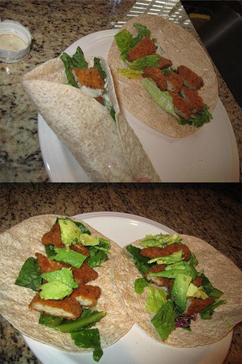 Semi homemade crispy chicken snack wraps