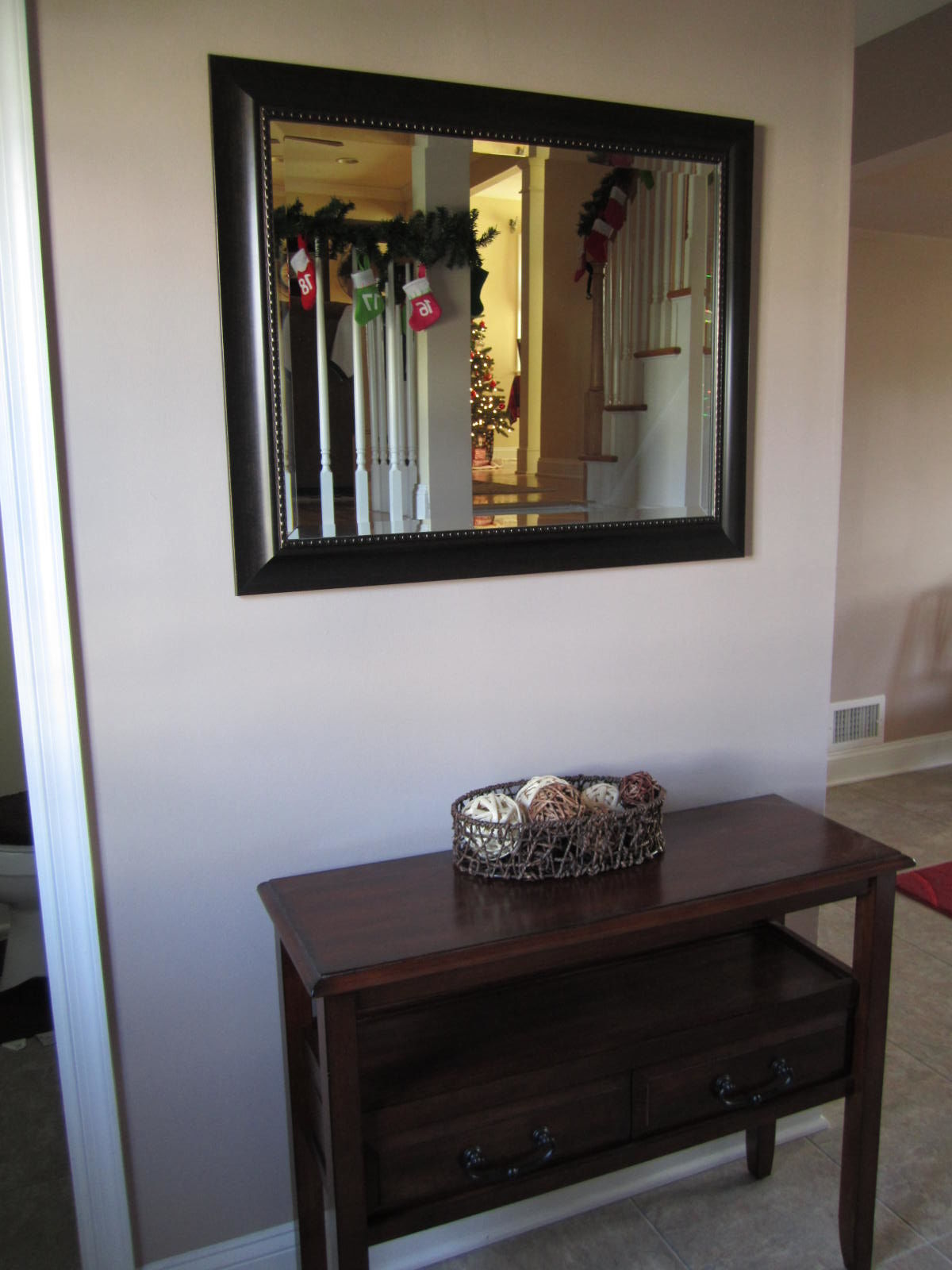 Foyer Mirror Designs : Decking the hall literally spot of tea designs
