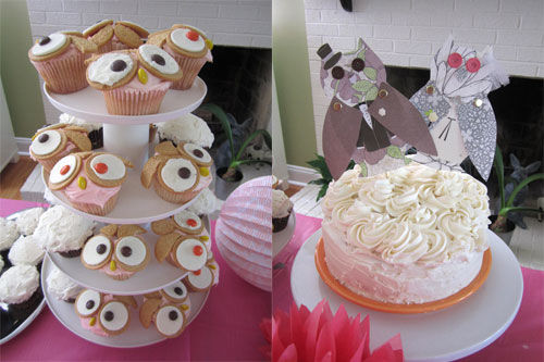 Pink Owl Bridal Shower