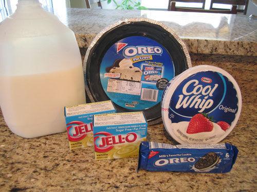 Oreo Pudding Pie Supplies