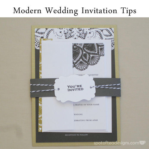 Modern #Wedding Invitation Tips | spotofteadesigns.com