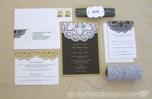 My WEdding invitation suite from weddingpaperdivas.com