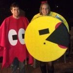 DIY Pac-Man Couples Halloween Costume {Guest Post}