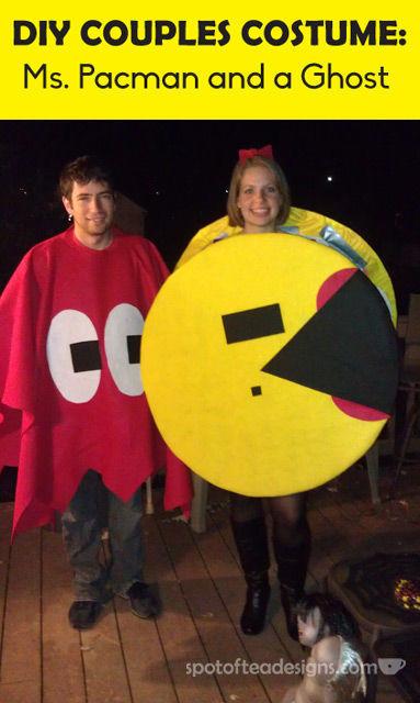 DIY Couples Halloween Costume Ms Pacman and Ghost | spotofteadesigns.com  sc 1 st  Spot of Tea Designs & DIY Pac-Man Couples Halloween Costume Guest Post | Spot of Tea Designs