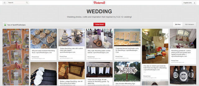 Spotofteadesigns.com wedding board on pinterest