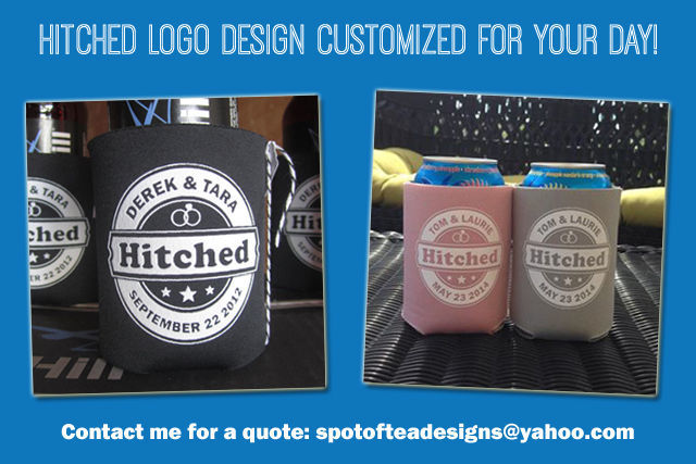 Hitched Logo Design created for your big day | spotofteadesigns.com