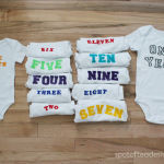Baby Shower Gift: DIY Monthly Belly Stickers {Free Printables}