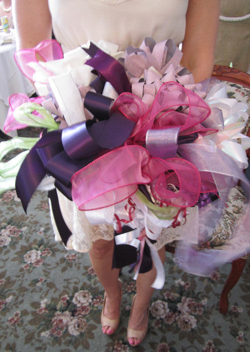 How to make a ribbon bouquet - spotofteadesigns.com