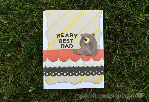Beary Best Dad Father's Day Card | spotofteadesigns.com