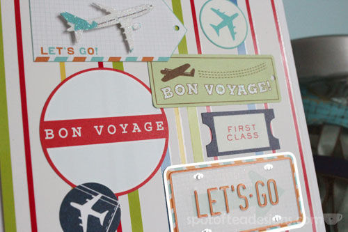 Bon Voyage Handmade Card | spotofteadesigns.com