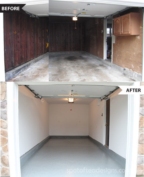 Garage makeover | spotofteadesigns.com