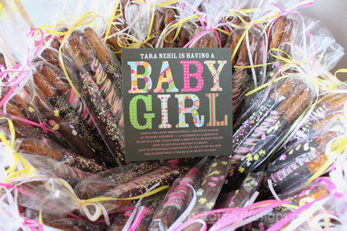 Baby GIrl Baby Shower Invite | Spotofteadesigns.com