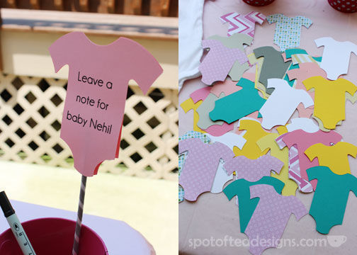 Baby Shower Advice Cards | spotofteadesigns.com