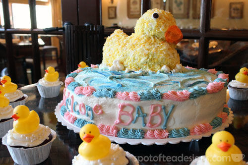 Rubber Duck Baby Shower Cake | Spotofteadesigns.com