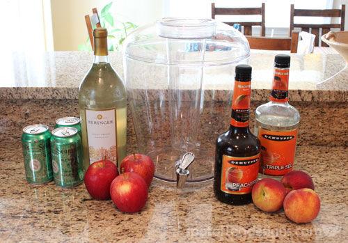 White Wine Peach Sangria Recipe | spotofteadesigns.com