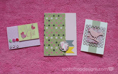 Handmade Baby Shower Cards | spotofteadesigns.com