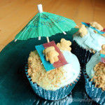 Sand and Sea Cupcakes