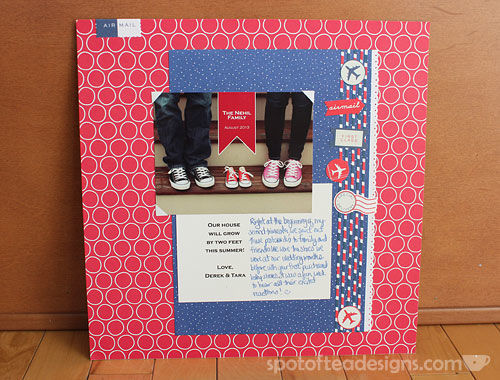 Baby Scrapbook Pregnancy Announcement |spotofteadesigns.com