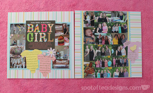 Baby Scrapbook Album: Baby Shower | spotofteadesigns.com