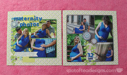 Baby Scrapbook Album: Maternity Photo Shoot | spotofteadesigns.com