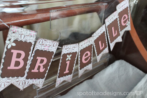 Name Garland to hang on the baby crib at the hospital | spotofteadesigns.com