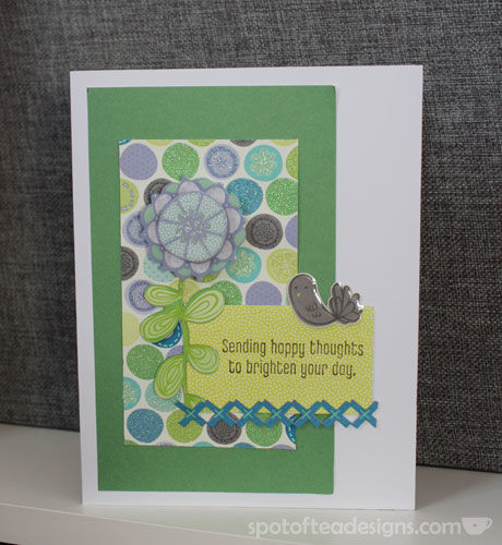 K&Company Poppyseed Collection Happy Thoughts Handmade Card | spotofteadesigns.com