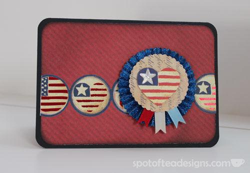 K&Company Americana Handmade Card | spotofteadesigns.com