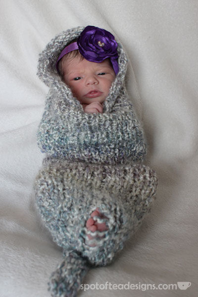 Handmade Knit Cocoon for newborn photo shoot | spotofteadesigns.com