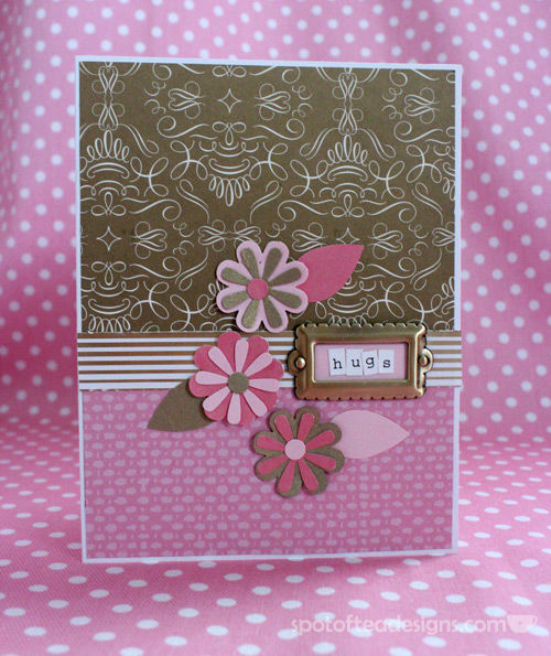 All that Glitters is Gold Challenge: Hugs Handmade Card | spotofteadesigns.com