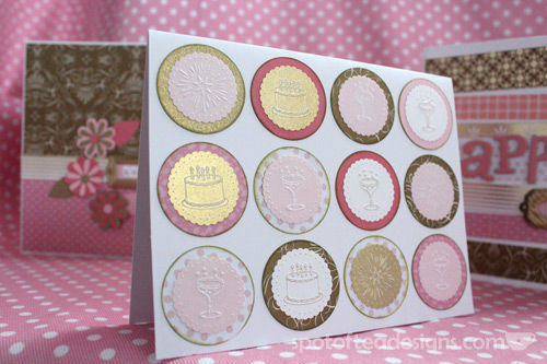 All that glitters is gold challenge: punch collage handmade card | spotofteadesigns.com
