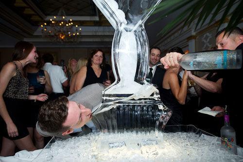 Adelphia Wedding Ice Luge | spotofteadesigns.com