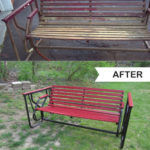 Backyard Bench Before and After {Guest Post}