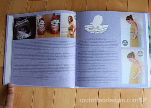 Documenting Pregnancy Photo book | spotofteadesigns.com