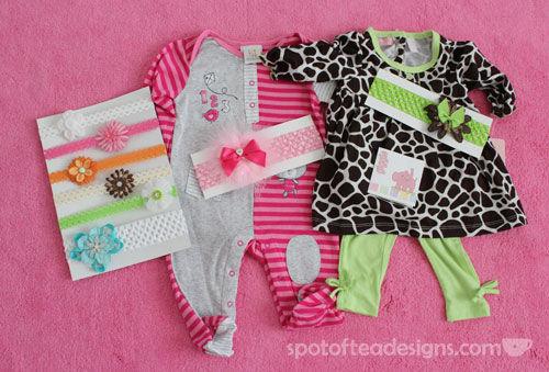 handmade baby headbands featured on spotofteadesigns.com