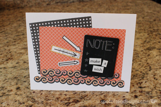handmade birthday card using halloween adhesive border stickers | spotofteadesigns.com