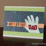 Happy Birthday Handprint Card