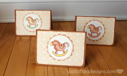 Handmade Baby Shower Thank you cards #maternity #pregnancy #babyshower | spotofteadesigns.com