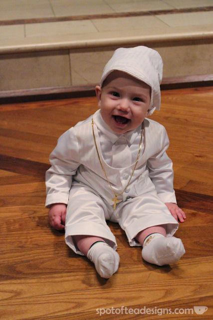Logan Baptism outfit | spotofteadesigns.com