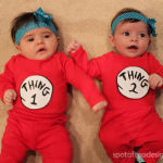 Halloween Couples Costume: Dr. Seuss Thing 1 and Thing 2