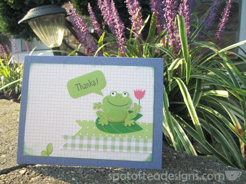 Caption Bubble Frog Thanks