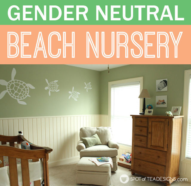 Gender Neutral Beach Themed #Baby #Nursery | spotofteadesigns.com