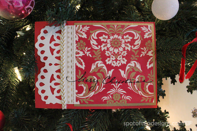2013 Handmade Christmas Card by Holly Craft as featured on Spotofteadesigns.com
