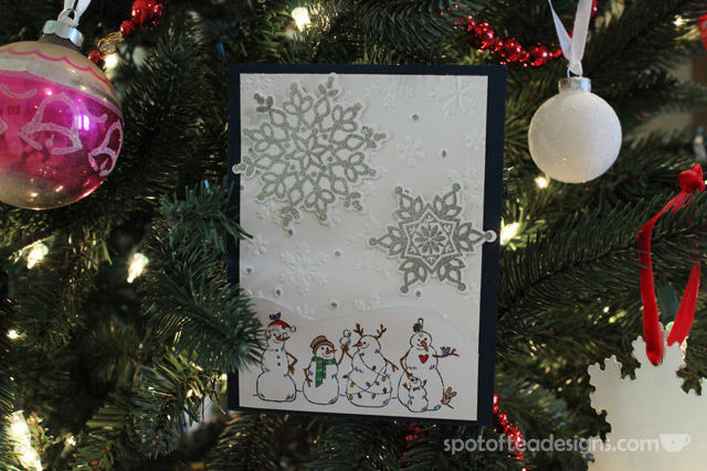 Handmade 2013 Christmas Card by Pat Menadier as featured on spotofteadesigns.com