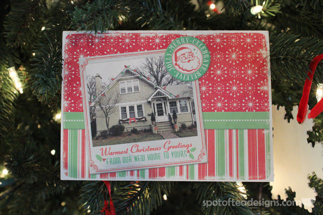 2013 Christmas Card designed by Vanessa Hlavaty as featured on spotofteadesigns.com
