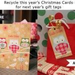 Use Your Stash Challenge: Recycling Store Bought Christmas Cards