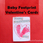 Baby Footprint Valentine's Day Cards