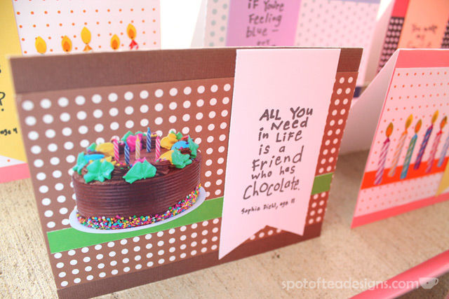 Handmade Card Set featuring Inkadinkado kid quote stamps | spotofteadesigns.com