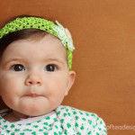 St. Patrick's Day Shamrock Baby Headband Tutorial